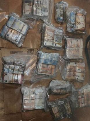 The seized money