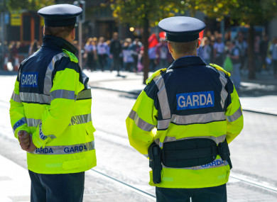 File photo of gardaí in Dublin in 2017.