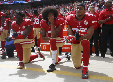 Eric Reid (R) has been an outspoken advocate for Colin Kaepernick