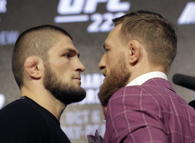 UFC star Conor McGregor and lightweight champion Khabib Nurmagomedov go head-to-head.