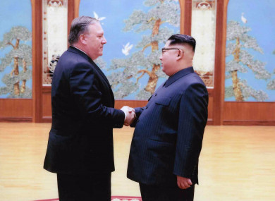 US Secretary of State Mike Pompeo meets with North Korean leader Kim Jong Un in Pyongyang, North Korea in April