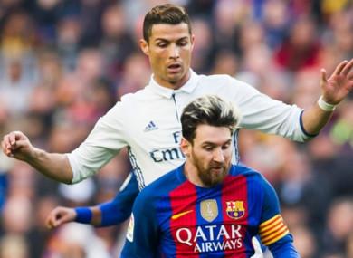 Cristiano Ronaldo and Lionel Messi (file pic).