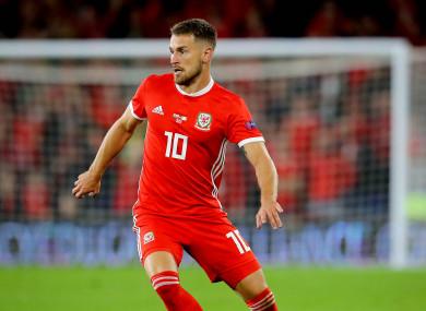 Wales midfielder Aaron Ramsey.