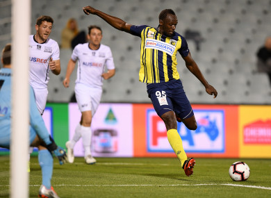 Bolt: scored twice for the Mariners in trial game last week.