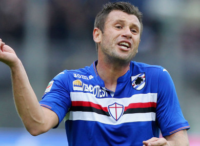 Antonio Cassano during his time at Sampdoria