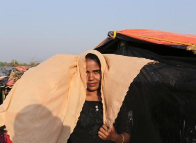 A Rohingya woman in the Kutupalong camp in Cox's Bazar, Bangladesh.
