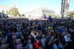 Anti-Brexit campaigners gather in Parliament Square, London.