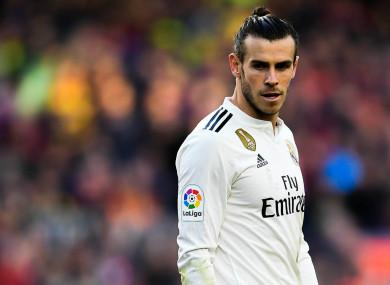 Real Madrid forward Gareth Bale.