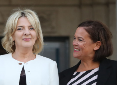 Ní Riada and McDonald during the campaign.