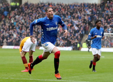 Rangers striker Kyle Lafferty.