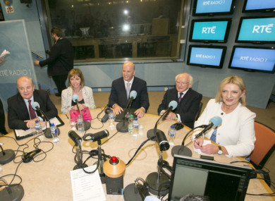 Presidential Candidates Peter Casey, Gavin Duffy, Joan Freeman, Sean Gallagher, (current) President Michael D Higgins and Liadh Ní Riada.