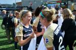 O'Sullivan celebrates winning the National Women's Soccer League in September.