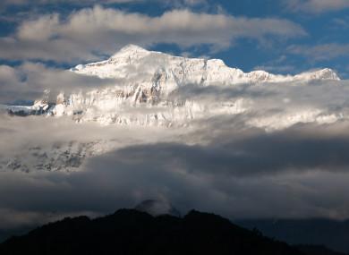 View of Mount Gurja Himal, Nepal