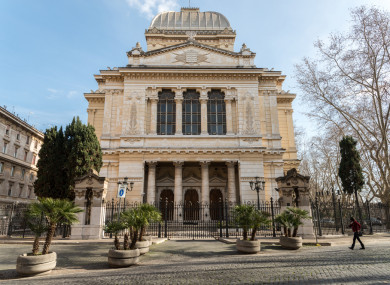 File photp: Great Synagogue of Rome, at the site of the former Jewish ghetto in the city.