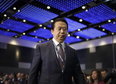 Interpol President Meng Hongwei