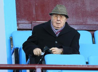 Former Aston Villa owner and chairman, Doug Ellis.