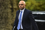 Home Secretary Sajid Javid arrives for a weekly meeting of cabinet ministers.