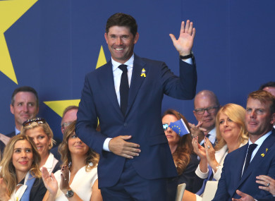 Harrington was a Vice-Captain for Team Europe for the 2018 Ryder Cup.