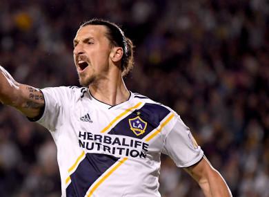 LA Galaxy striker Zlatan Ibrahimovic.