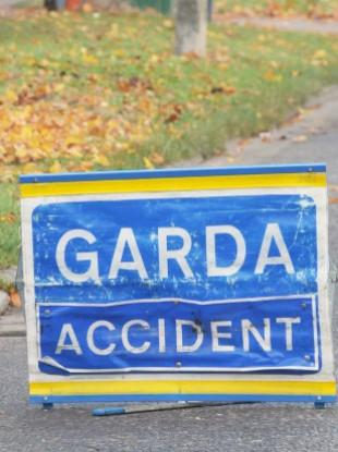 File photo of a Garda road closure sign.