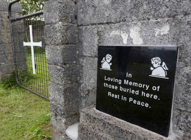 Site of the former Bon Secours mother and baby home in Tuam, Co Galway.