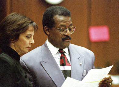 Johnnie L Cochran (right) with prosecutor Marcia Clark during the OJ Simpson trial in 1995.