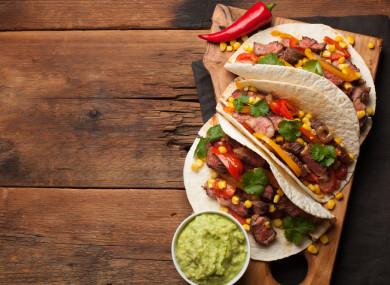 Tacos with corn salsa