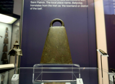 The bronze bell, which dates back to the 9th or 10th century.