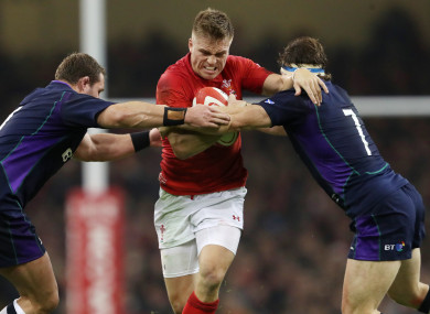 Gareth Anscombe during the win over Scotland.