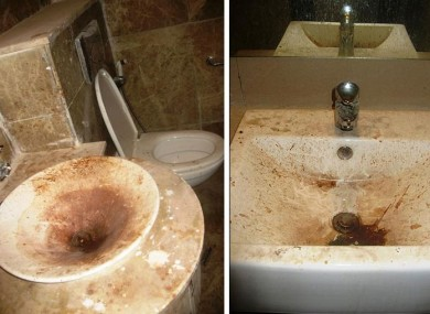A photograph seen by the BBC showing some of the bathroom conditions just nine days before the Commonwealth Games begin.