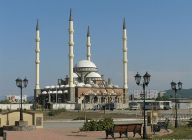 The Kadyrov Mosque in Grozny, Chechnya: the North Caucasus region has struggled to suppress an Islamic insurgence in recent years.