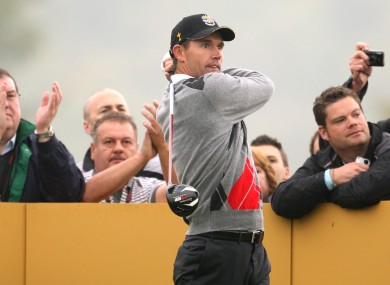 Harrington blew hot and cold at Celtic Manor - struggling in the tournament proper but shooting a 62 in the practice rounds.