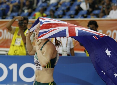Sally Pearson's joy was shortlived