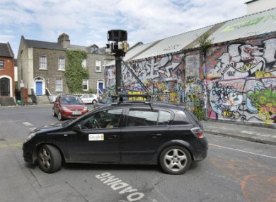 A Google Street View car in Dublin last year.