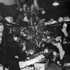 Sometimes it doesn't matter what's under the tree - somehow it's not just Christmas when you spend it huddled down in a bomb shelter. These toddlers are pictured on Christmas morning 1940, taking shelter in a London tube station.