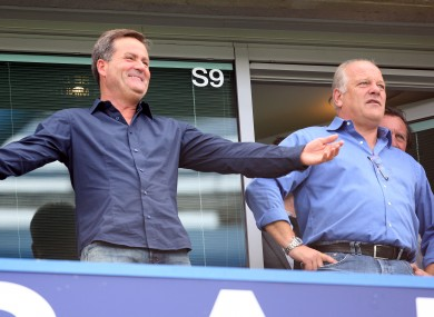 Sky Sports football host Richard Keys and pundit  Andy Gray: an audio file appears to record them making sexist comments about a female linesman at a match yesterday.