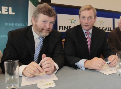 Fine Gael deputy leader Dr James Reilly, and leader Enda Kenny: the party's result in the Red C poll is its best for ten months.