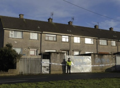 Gardai at the scene of a double shooting in O'Malley Park in Limerick.
