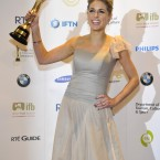 Amy Huberman, IFTA winner of Best Actress in a Lead Role (Film/Television) for 'Rewind'. Photo by KOBPIX.
