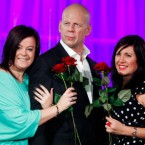 Staff at Madame Tussaud's in London unveil the new Bruce Willis wax figure there for Valentine's Day. And guess what? It looks really, really like him. (AP Photo/Paul Jeffers)