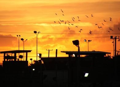 Day breaks over Camp Delta at Guantanamo Bay