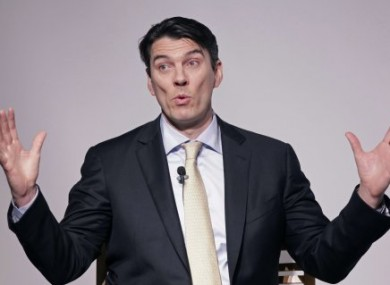 Tim Armstrong, Chairman and CEO of AOL, talks at a media summit, Thursday, March 10, 2011 in New York