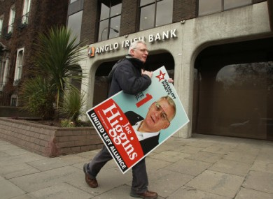 We're sure Socialist Party TD Joe Higgins was careful to remove all his election posters