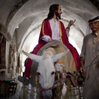 A man has been sightseeing in the old city of Jerusalem all week, pretending to be Jesus. The man, named Salimgor, apparently arrived a month ago from Russia. Image: PA Images/Demotix/NSI Agency