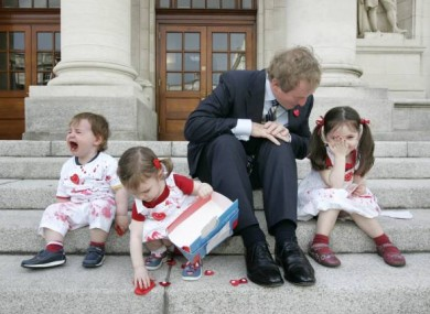 Never work with Labour or kids: Enda Kenny's launch of the Happy Heart appeal didn't strike a happy tone with everyone...