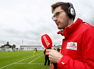 Ciaran Murphy on the sidelines wearing the wind-breaker so admired by Wexford manager Jason Ryan.