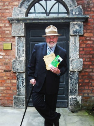 Senator David Norris at today's launch of the 2011 Bloomsday celebrations which will run from 11-16 June