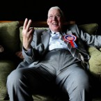 DUP leader Dr Ian Paisley is interviewed at Galgorm Manor Hotel, in his own constituency of Ballymena, during the run-up to March 2007 Northern Ireland Assembly elections.