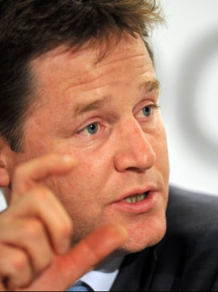 UK Deputy Prime Minister Nick Clegg wants to give the public shares in bailed-out banks
