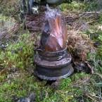 The stump of a Spitfire propeller blade